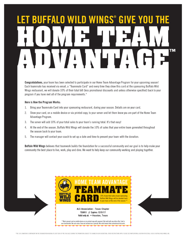 ALS Texas and Buffalo Wild Wings Team Up - ALS Texas