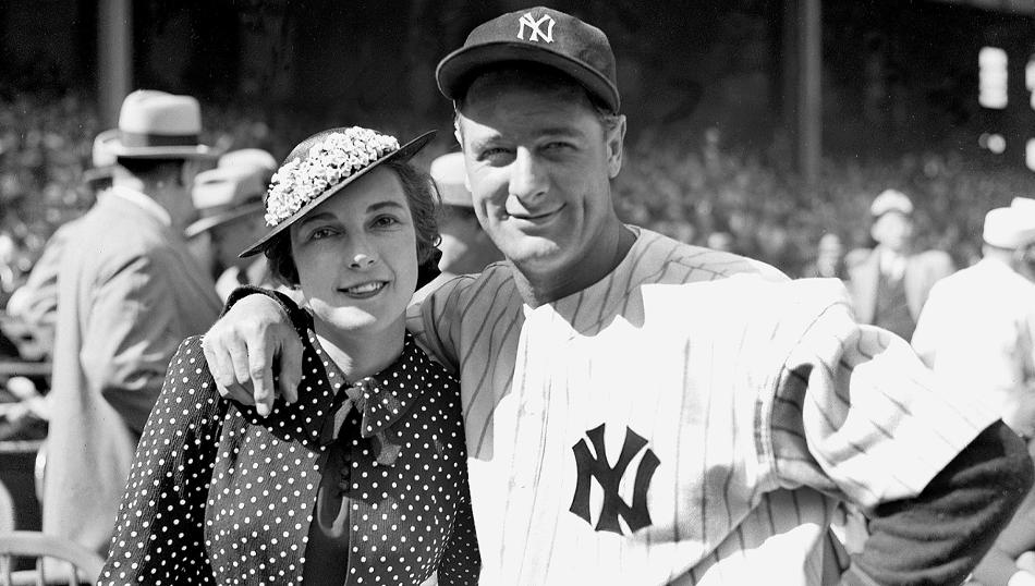 Lou Gehrig with his wife